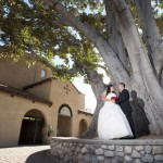Maribel and Lin are photographed at Holy Family Church in Pasadena, CA on 9/1/12.