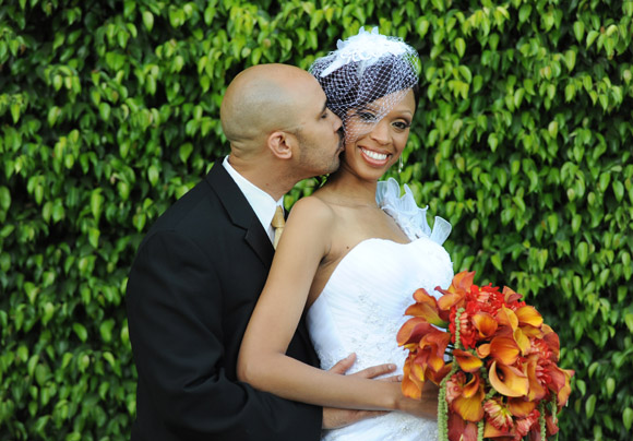 Rashanda and Mike are photographed at the Garden Room in Garden Grove on 4/26/13.