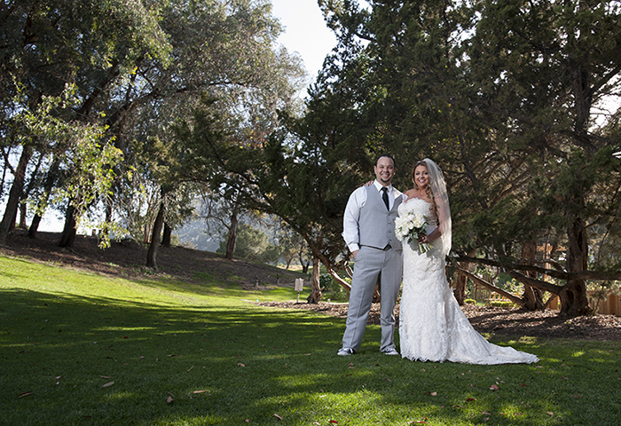 Krystal & Denzil are photographed on their wedding day on April 29, 2016, in Temecula, CA.