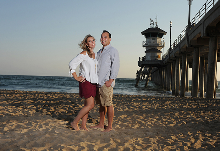 Jillanne and Rod are photographed at the Huntington Beach Pier in Huntington Beach, CA on 8/28/16.